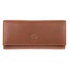 Conkca London - Tan 'Hepburn' genuine leather RFID purse