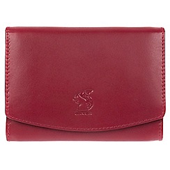 Conkca London - Red 'Monroe' genuine leather RFID purse