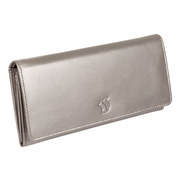 purse Conkca leather 16 silver Adagio card London RFID 'Fey' handcrafted metallic HaUq7wHp