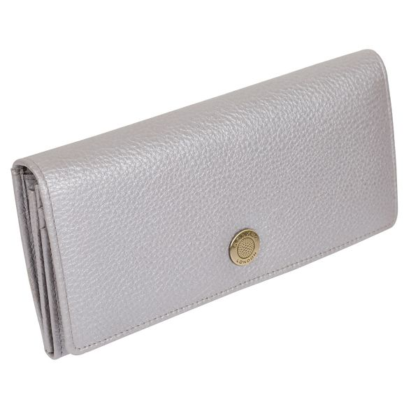 'Fey' RFID Dollar silver leather 16 metallic handcrafted purse Conkca card London SZqn4WqI