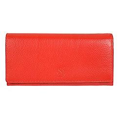 Conkca London - Orange 'Fey' handcrafted leather 16-card RFID purse