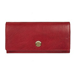 Conkca London - Dark red 'Fey' handcrafted leather 16-card RFID purse