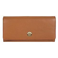 Conkca London - Tan 'Fey' handcrafted leather 16-Card RFID purse