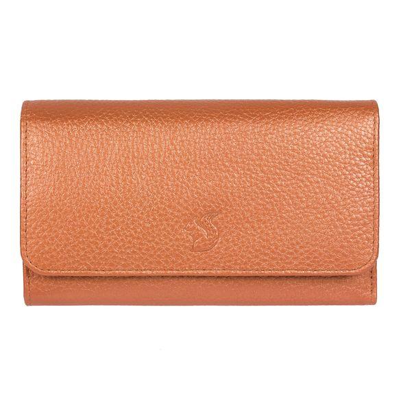 handcrafted leather London RFID Conkca 'Layla' Metallic purse orange AqPwzTH8