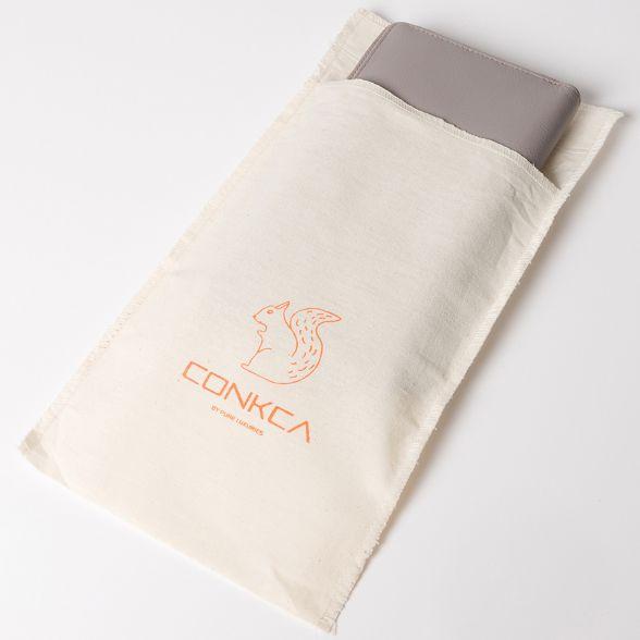 purse zip grey Conkca London Light RFID 'Hazel' leather around p1TR8Twq