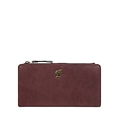 Conkca London - Plum 'Kittie' handcrafted leather purse