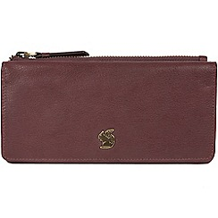 Conkca London - Plum 'Dotty' handcrafted leather purse