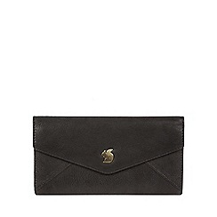 Conkca London - Black 'Fion' handcrafted leather tri-fold purse