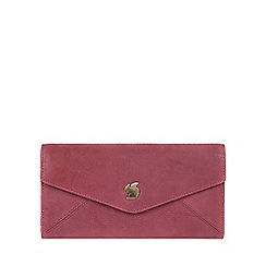 Conkca London - Orchid 'Fion' handcrafted leather tri-fold purse