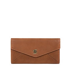 Conkca London - Tan 'Fion' handcrafted leather tri-fold purse