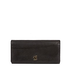 Conkca London - Black 'Bloom' handcrafted leather purse