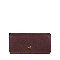 Conkca London - Plum 'Bloom' handcrafted leather purse