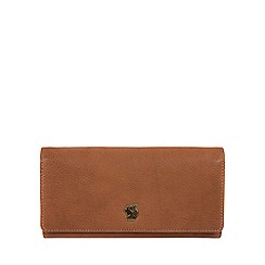 Conkca London - Tan 'Bloom' handcrafted leather purse