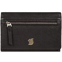 Conkca London - Black 'Ling' handcrafted leather purse