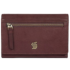 Conkca London - Plum 'Ling' handcrafted leather purse