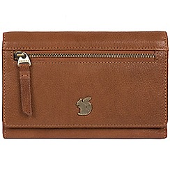 Conkca London - Tan 'Ling' handcrafted leather purse