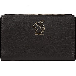 Conkca London - Black 'Fran' leather tri-fold purse