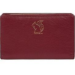 Conkca London - Deep red 'Fran' leather tri-fold purse