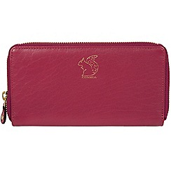 Conkca London - Orchid 'Aisling' leather zip round purse