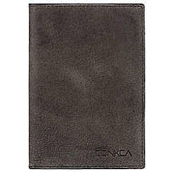 Conkca London - Vintage black 'Zappa' leather passport wallet