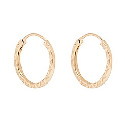 Pure Luxuries London - Gift packaged 'Mahtab' 9-Carat yellow gold hoop earrings