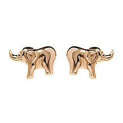 Pure Luxuries London - Gift packaged 'Sanaz' 9-Carat yellow gold elephant earrings