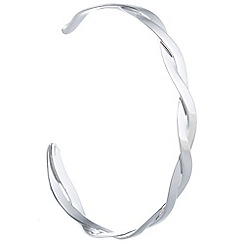 Pure Luxuries London - Gift packaged 'Alastrina' sterling silver torc bangle