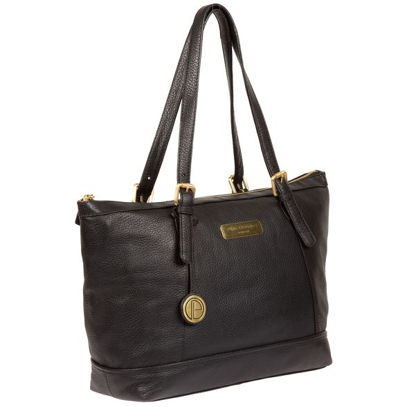 tote bag Pure Black London leather 'Truro' Luxuries qwAwFUzxH