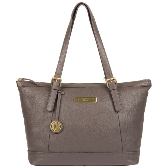 Pure Luxuries tote bag London Grey 'Truro' leather rrdXqz