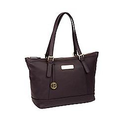 08ab64ec27b7 Pure Luxuries London - Plum  Truro  leather tote bag