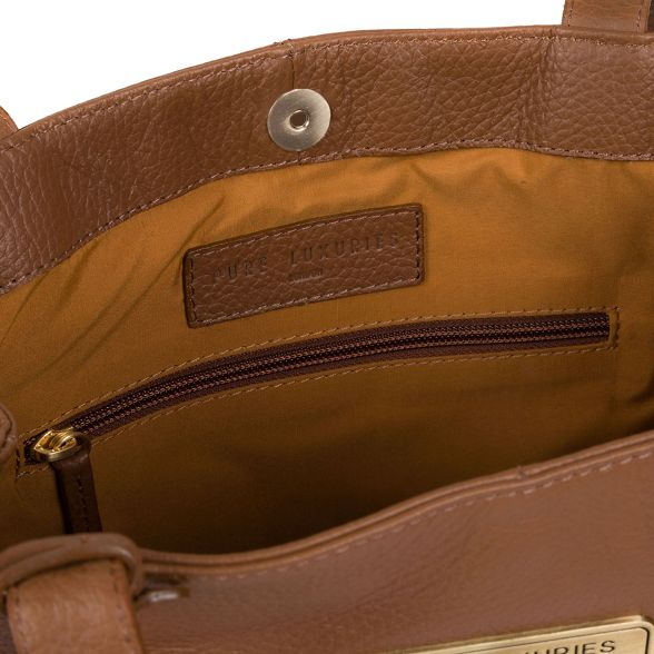 Tan bag leather Pure London shoulder Luxuries 'Skipton' wnZn1qPR