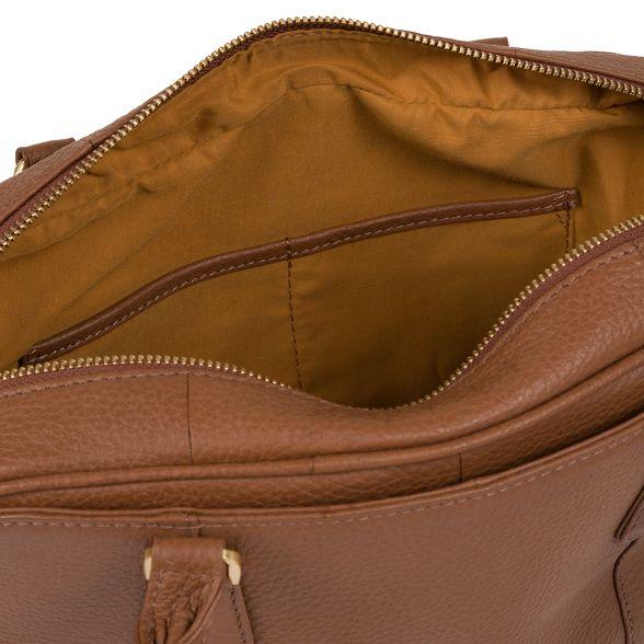 'Poole' Tan handbag Pure London Luxuries leather vOxtEqwgFq