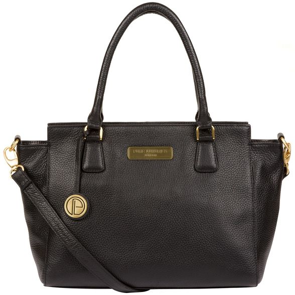 Pure London Black handbag leather 'Aston' Luxuries q4BnAF