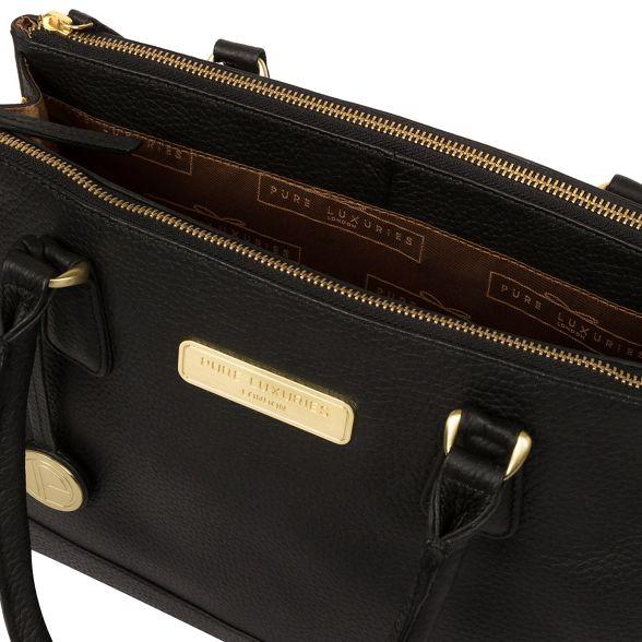 Black 'Welbourne' Luxuries handbag Pure leather London TqpUxx68