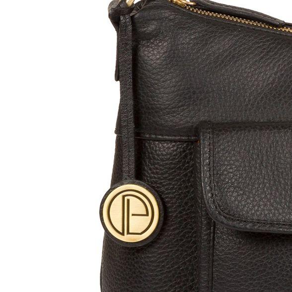 leather London Luxuries 'Wells' Pure Black bag hobo ZI5UUxw
