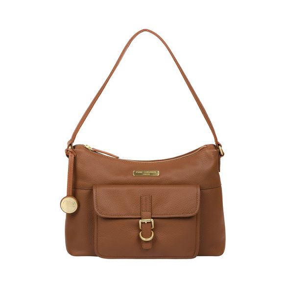 London bag 'Wells' Tan Pure Luxuries leather hobo SqFx4