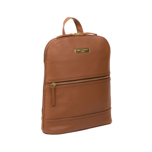 Luxuries 'Ellerton' leather Pure Tan London backpack Sxv7dq