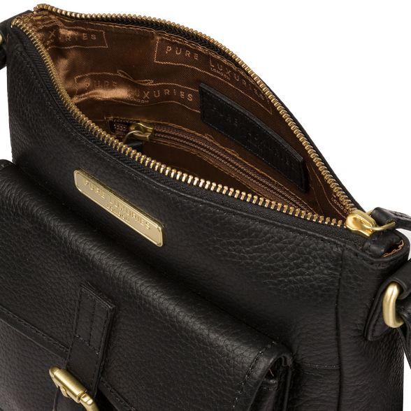 London cross leather Pure bag body Black 'Bembridge' Luxuries C65BxnR