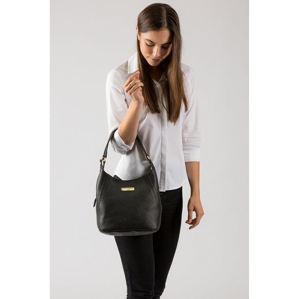 Black London shoulder leather bag Pure 'Somerby' Luxuries w1qpnET