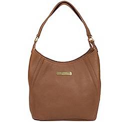 Pure Luxuries London - Tan 'Somerby' leather shoulder bag