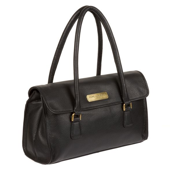 Pure handbag Black Luxuries leather London 'Milton' r0rqzY