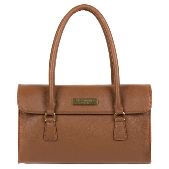 Pure Luxuries 'Milton' leather Tan handbag London xn1r6Bx