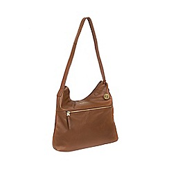 Pure Luxuries London - Tan 'Barbara' leather shoulder bag