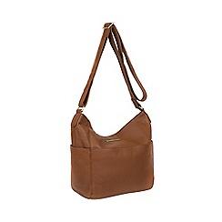 Pure Luxuries London - Tan  Dorothea  genuine leather shoulder bag 0939af650cc3f