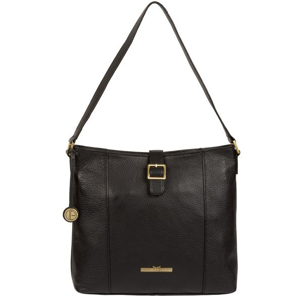 Black handbag Pure leather Luxuries 'Elaine' London gxvvFqf