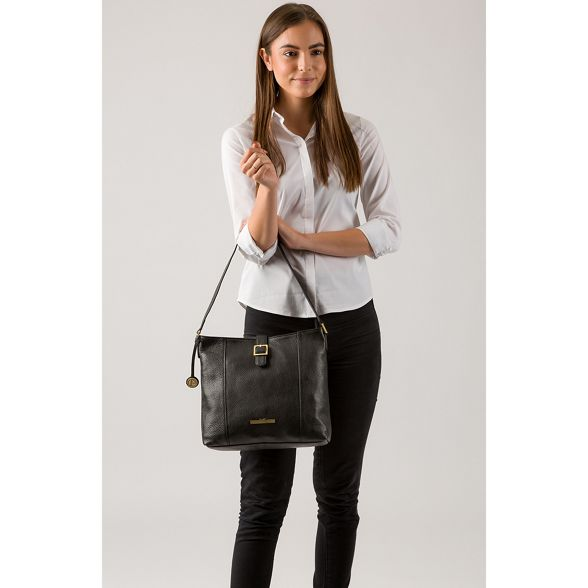Pure Black handbag Luxuries London leather 'Elaine' 7r70Sq