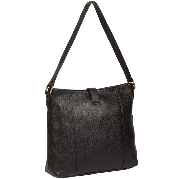 leather 'Elaine' Pure Black London Luxuries handbag wTxaBS