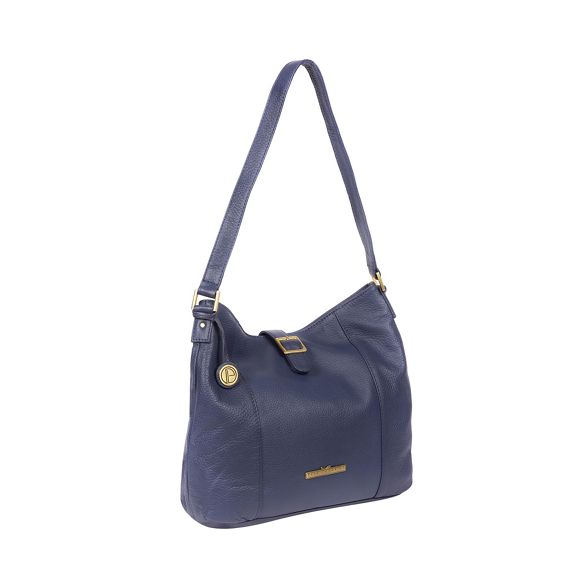 handbag leather London 'Elaine' navy Pure French Luxuries ZqwCCOT