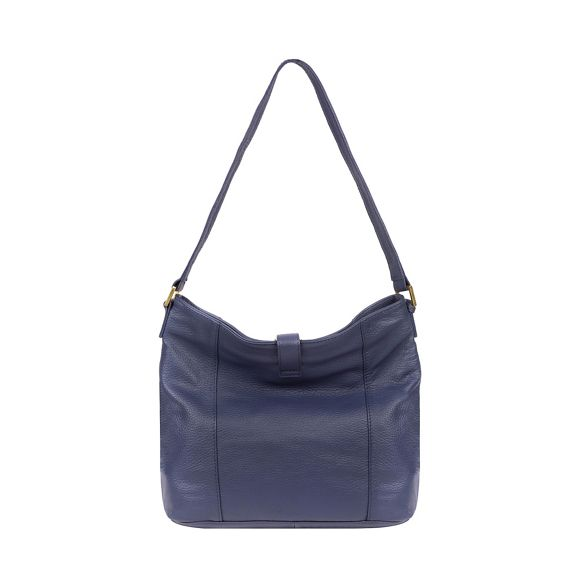 Luxuries London leather Pure navy French 'Elaine' handbag A8xxFqP1w