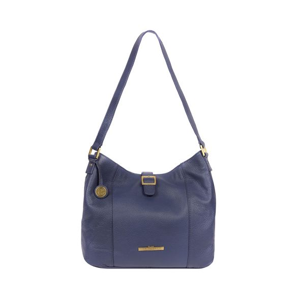 French navy Luxuries 'Elaine' handbag Pure London leather RAfqS1w